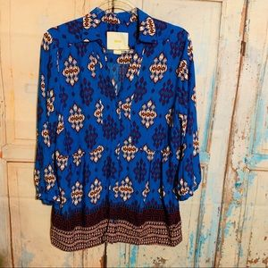 Anthropologie Maeve button down SIZE 12 In EUC